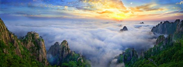 黄山风景区导览图